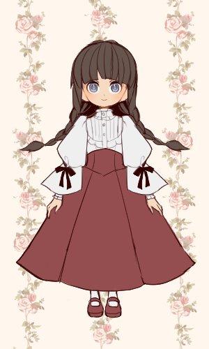 『どぉるキャラメイカー』さんで『RDG』の泉水子さん(巫女装束)をイメージして作成してみました。とても可愛い♪色んなお洋