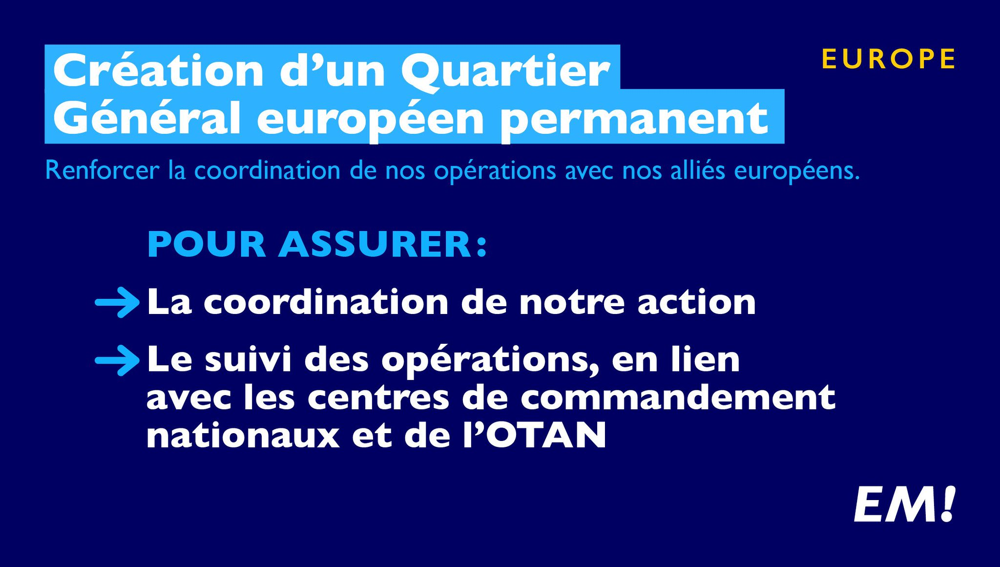 Mon ambition sera de faire émerger une réelle autonomie stratégique au niveau européen. #MacronDéfense https://t.co/mhASE7FAe8