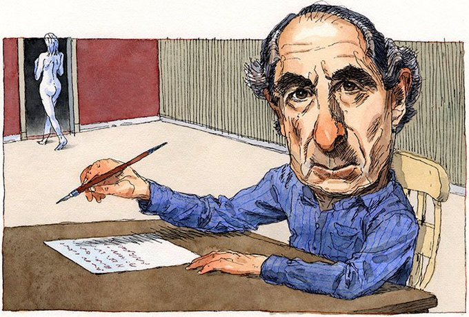 Happy birthday to Philip Roth - Art by John Cuneo
