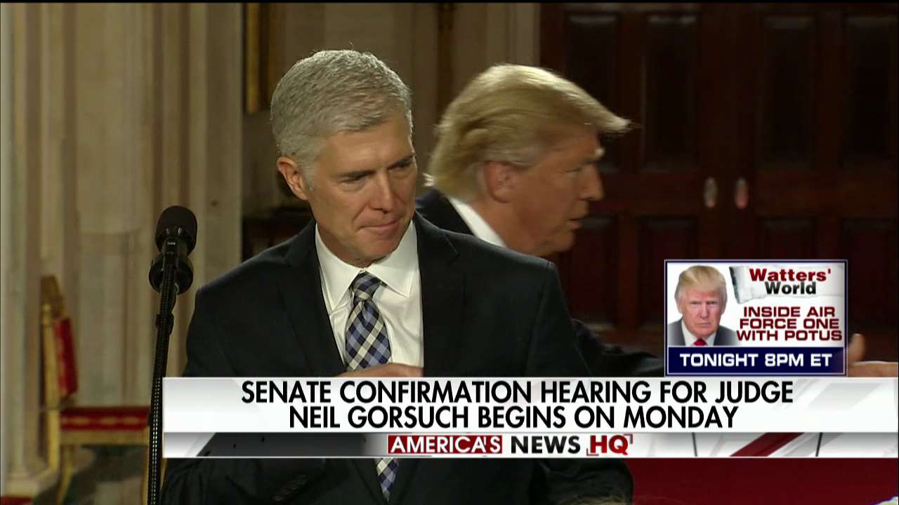 Senate confirmation hearing for Judge Neil Gorsuch begins on Monday. https://t.co/9VxYrIDKwv