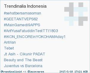 Trend Alert: #MainGamedi9APPS. More trends at https://t.co/ZIndhkxfRI #trndnl by #trendinaliaID via @c0nvey https://t.co/v5sGnoz7ri