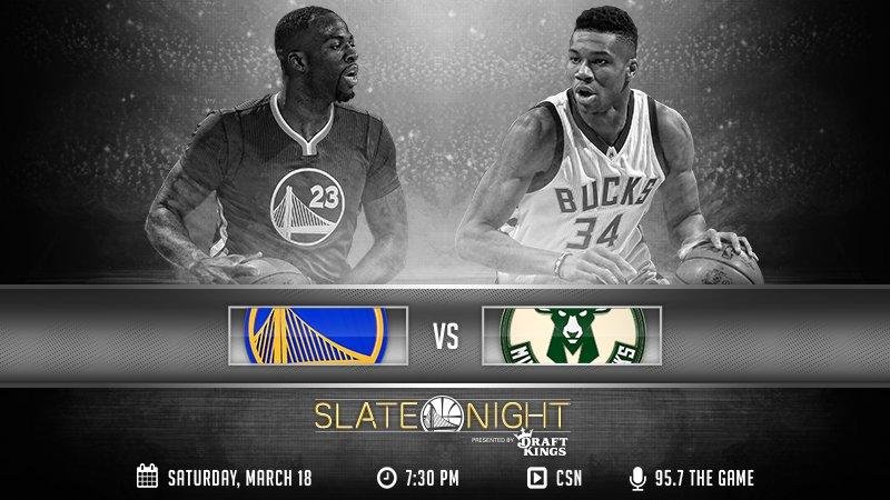 IT'S GAME DAY! The Dubs host the @Bucks in a #SlateNight showdown.  GAME PREVIEW & TICKETS » https://t.co/rCgNkika38 https://t.co/d2UzDUnacA