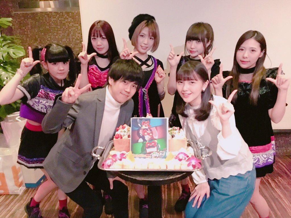 タイムボカン24の打ち上げでトキオ役の若山晃久さん、カレン役の鬼頭明里さんと📸ED歌えたこと誇りに思います😭#タイムボカ