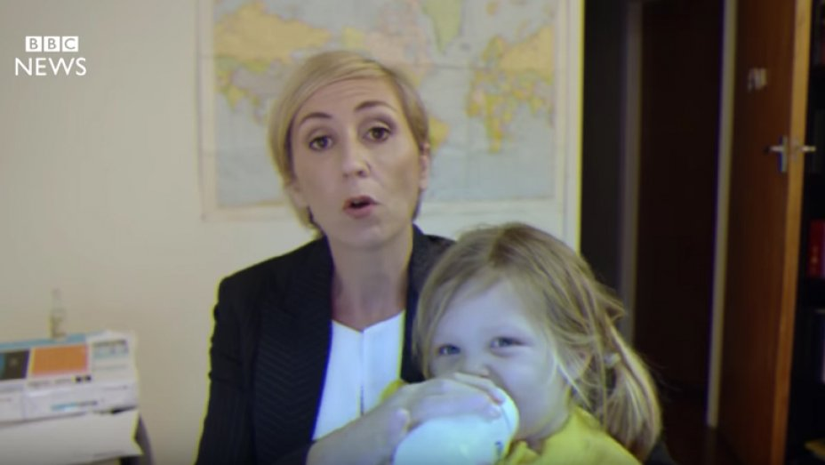 Viral BBC Interview Spoof Shows How a Working Mother Would Have Reacted
