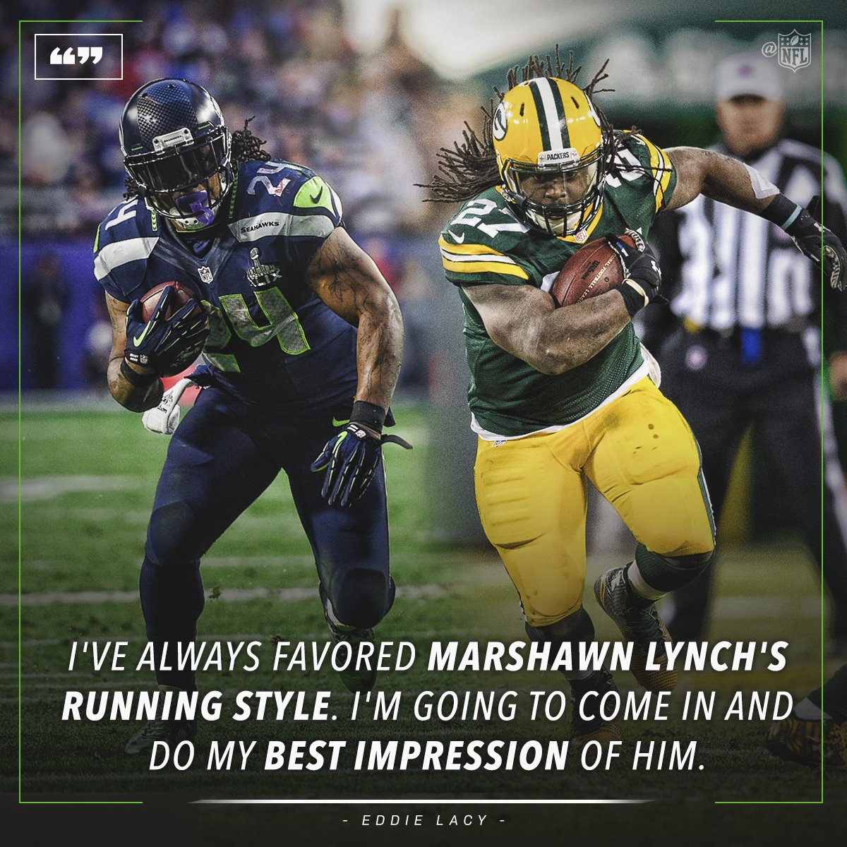 .@Lil_Eazy_Ana_42 will try to his best #BeastMode impression with the @Seahawks. https://t.co/PxpkmINMEw