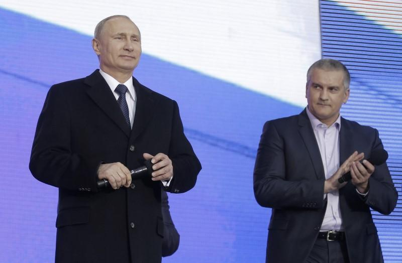 Crimea's Russian-backed PM endorses Vladimir Putin as 'president for life'