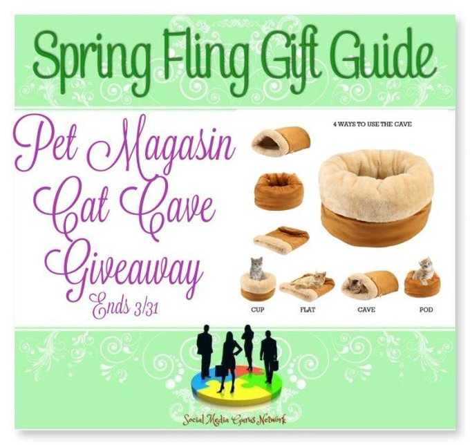 Pet Magasin Cat Cave #Giveaway Ends 3/31 #SMGN