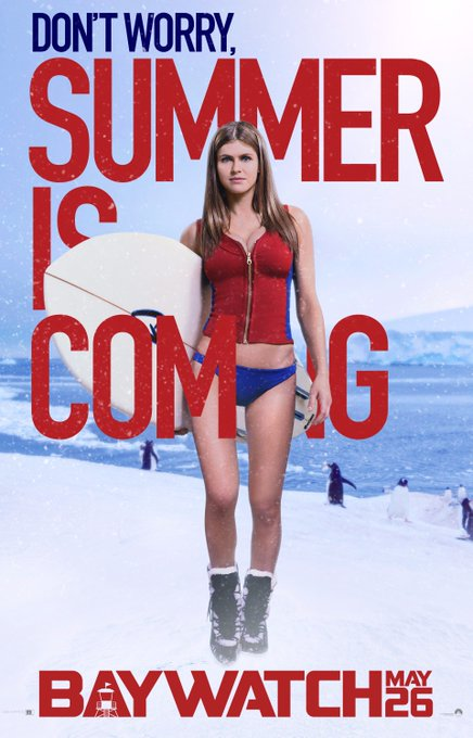 Happy Birthday Alexandra Daddario! Baywatch slow-motion jogs into theatres May 26, 2017.