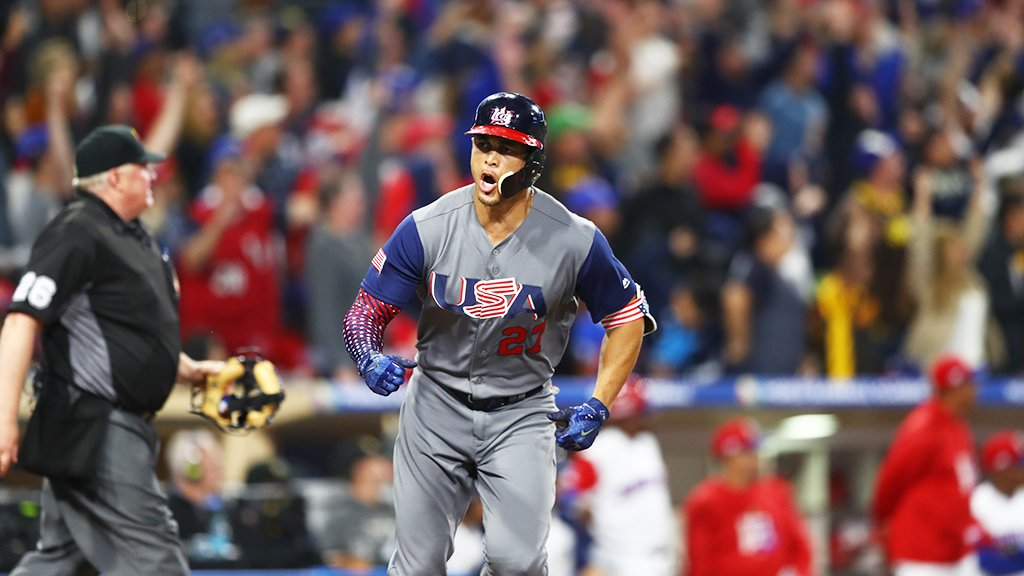 .@Giancarlo818 is just a little fired up right now! #WBC2017 https://t.co/vdRyn18BFH