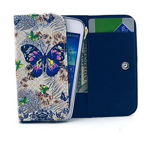 #free #iphone #win #style #digital #usb #giveaway #np FIGO Atrium 5.5 Case,Universal Wallet Clutch Bag Carrying Flip Leather Smartphone Case with Card Slots for FIGO Atrium 5.5 Inch-Butterfly Flowers Style #rt