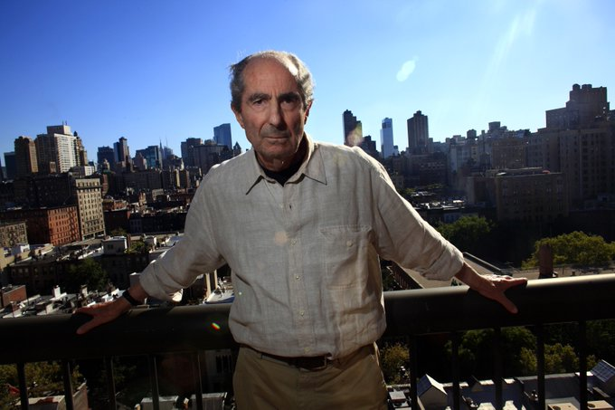 """The road to hell is paved with works-in-progress.\"" Happy Birthday, Philip Roth! Photo Credit: ©François Reumont"