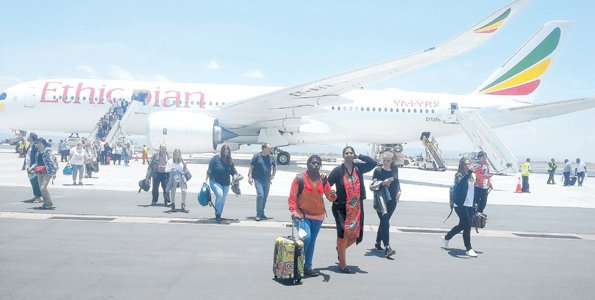 Ethiopian Airlines flies Airbus 350 to Kilimanjaro
