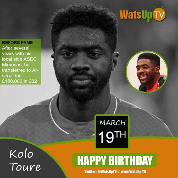 Happy birthday to the African International footballer Kolo Toure