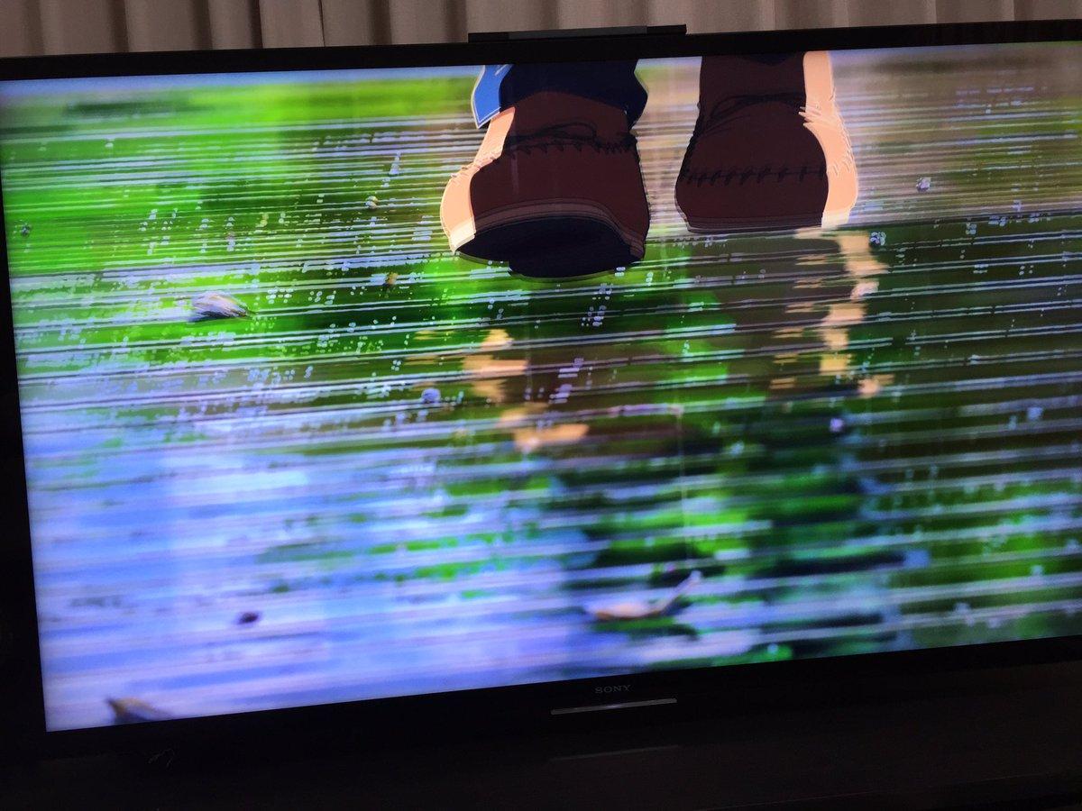 PS4 Proのアプコンで4Kテレビで見る言の葉の庭 is 綺麗