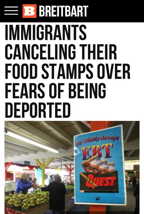 Today's Feel Good Story   #Immigrants Canceling Food Stamps Over Fears They Could Be Deported   #BuildTheWall https://t.co/myRUqKC9sc