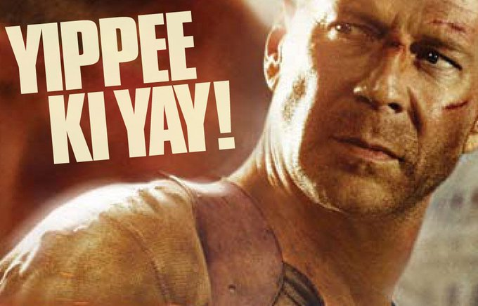 Happy birthday to Bruce Willis! In celebration a brief history of \yippee-ki-yay.\