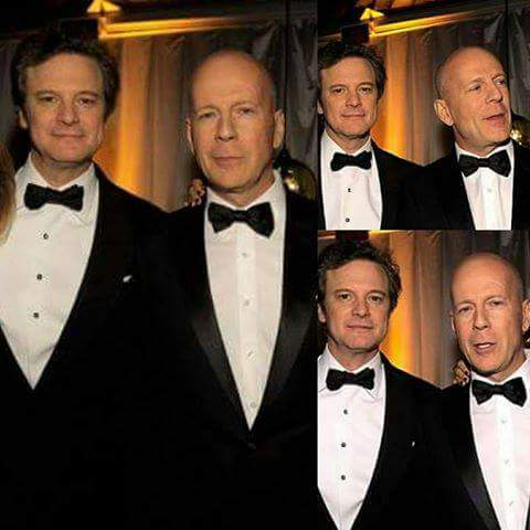 "COLIN FIRTH ADDICTED HAPPY BIRTHDAY, ""BRUCE WILLIS\"" ^^"