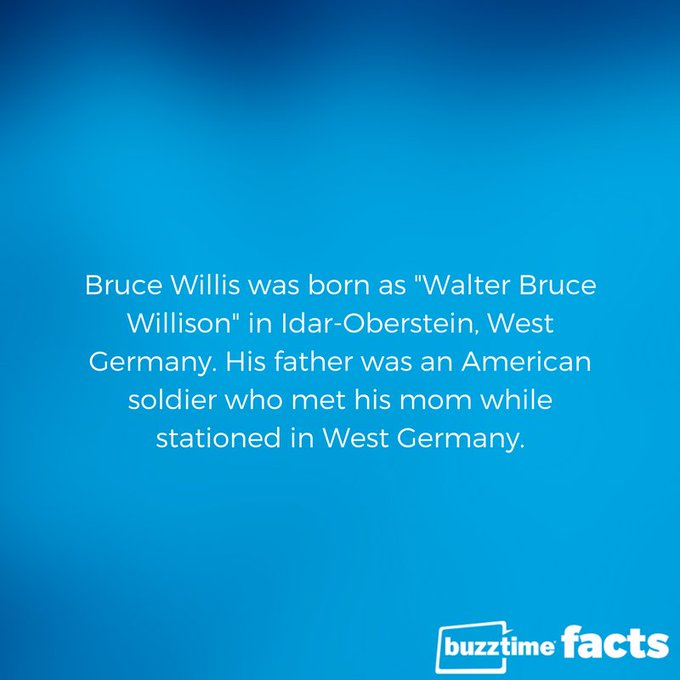 Happy 62nd birthday Bruce Willis!