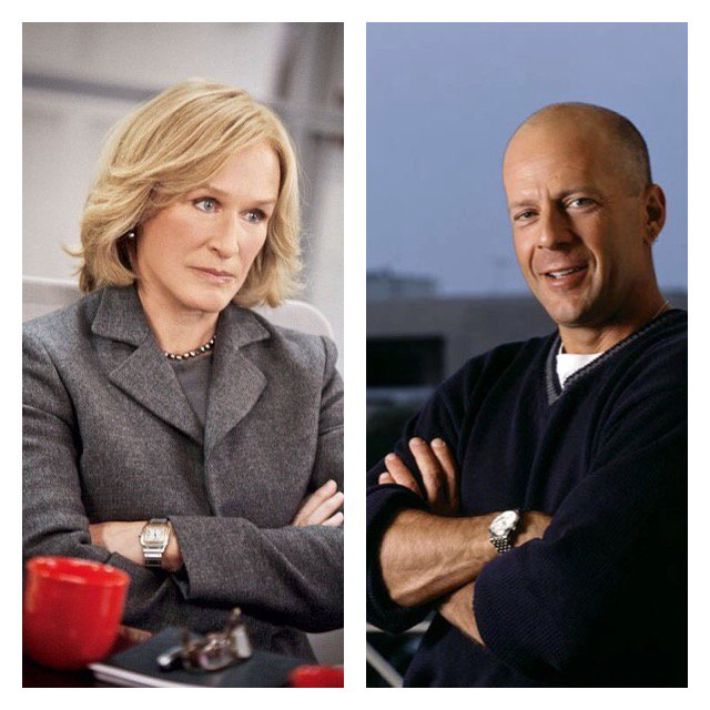 HAPPY BIRTHDAY to actors Glenn Close and Bruce Willis. We hope you both have a great day!!