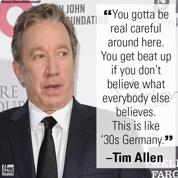 .@ofctimallen Calls Out Hollywood Liberals.