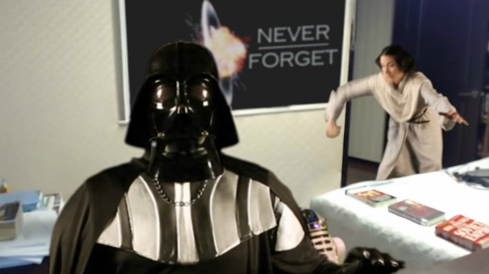 What if the viral #BBCDad had been Darth Vader? https://t.co/A244433ruk #StarWars https://t.co/OA622YFdE9