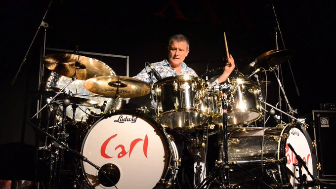 Born on this day in 1950 in Handsworth, UK, Carl Palmer, drummer of ELP and Asia. Happy 67th birthday