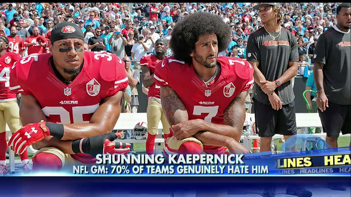 NFL GM: 70% of teams 'genuinely hate' @Kaepernick7. https://t.co/NS6ANsngrM https://t.co/m6zqylgqoq