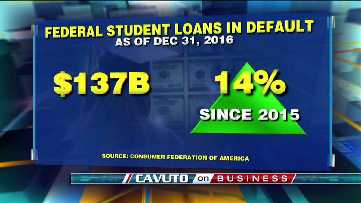 Federal student loans in default - as of December 31, 2016. https://t.co/BjhRMxUthS