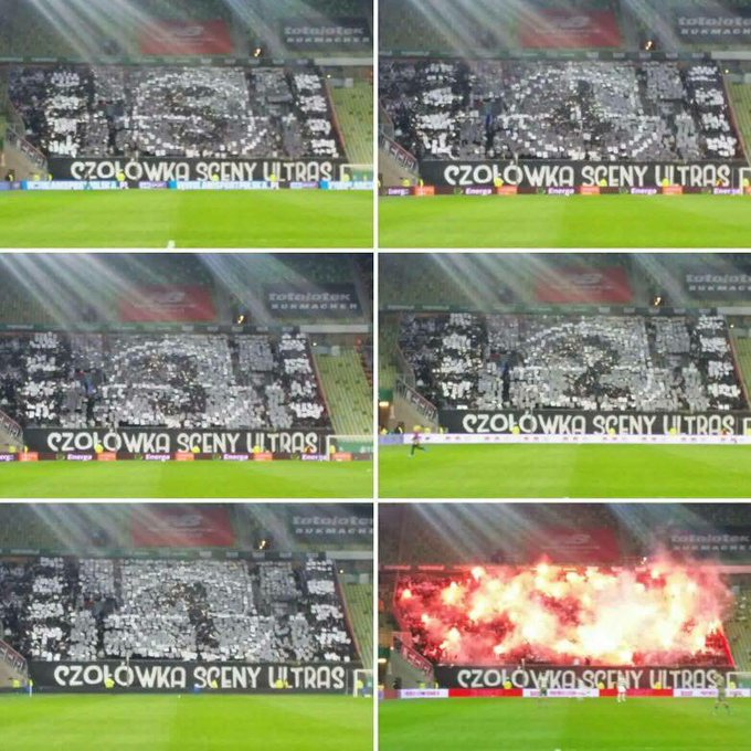 L'énorme tifo des supporters du Legia Varsovie ! 🔥💥