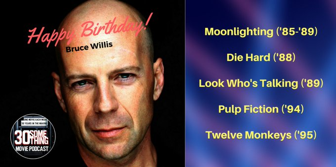 Bruce Willis turns 62 today. Happy Birthday, Bruno!