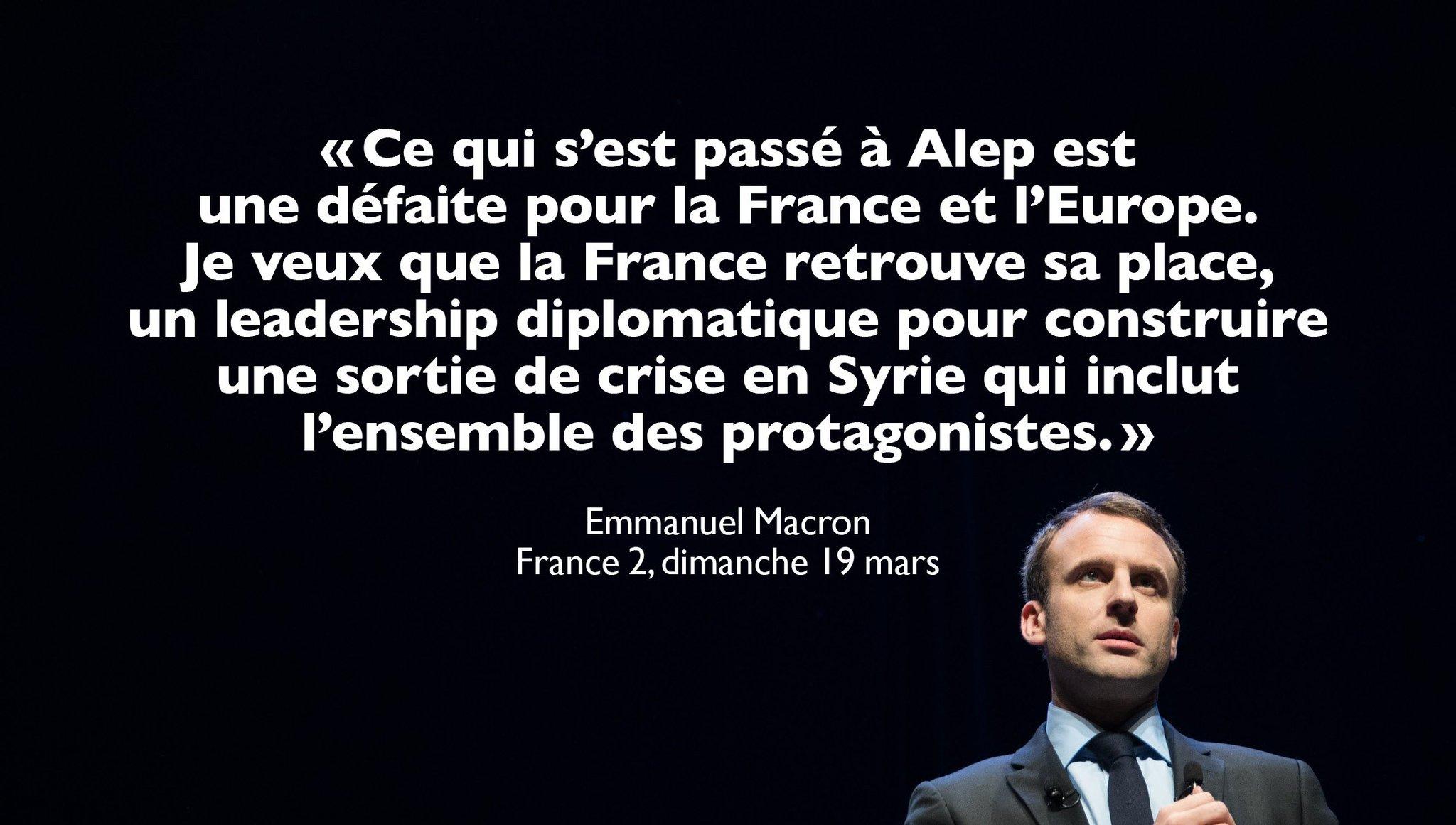 Je veux que la France participe à construire une sortie de crise en Syrie. #JT20H https://t.co/587DM9DWoM