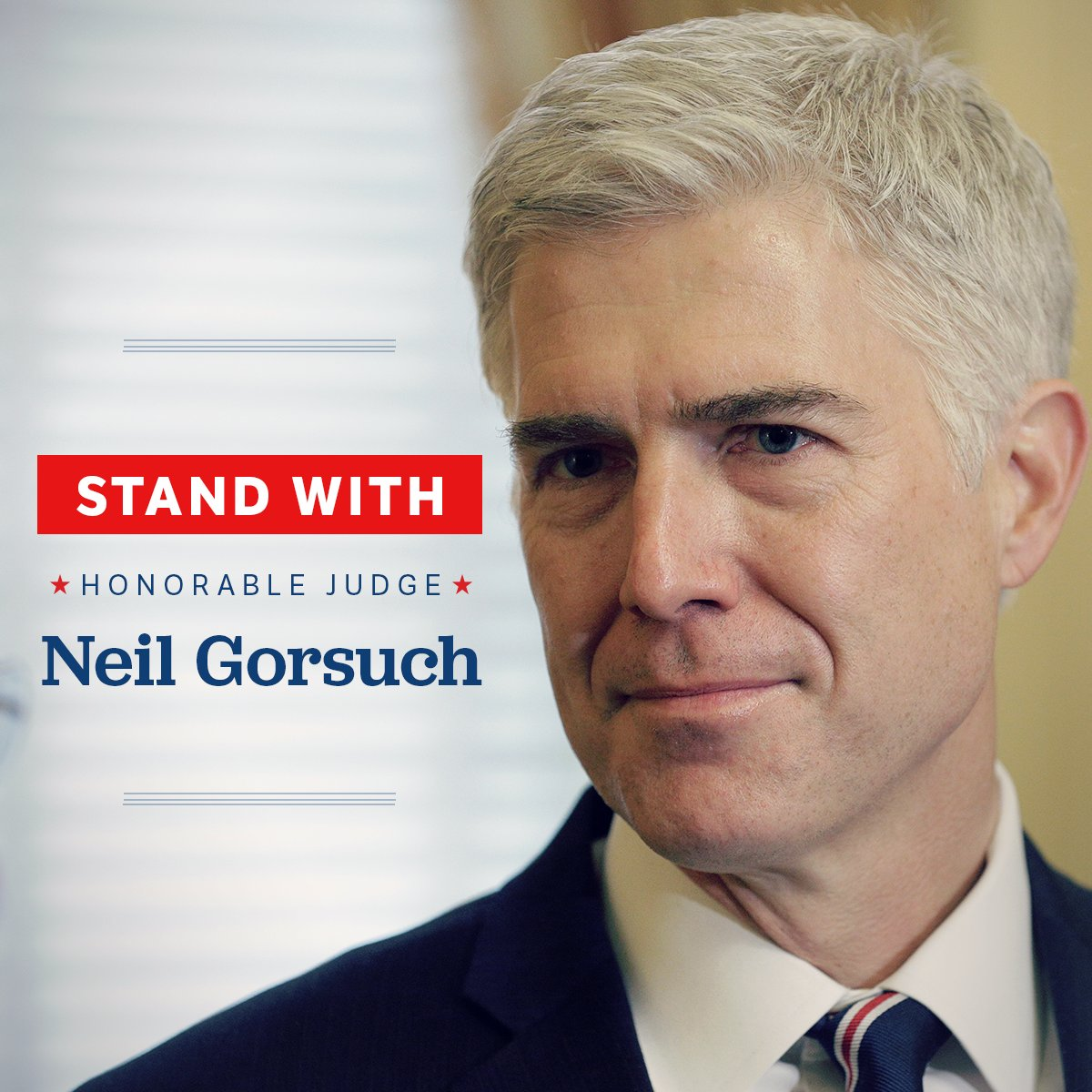 Tomorrow the hearing to #ConfirmGorsuch begins. RT to stand with Gorsuch for #SCOTUS! https://t.co/YvkW5XRvNi