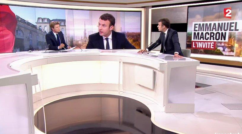 �� #REPLAY @EmmanuelMacron était l'invité du JT de 20H de @France2tv  ⏩ https://t.co/JqmrOvEQea #JT20H #Macron2017 https://t.co/lhslMtu0GL