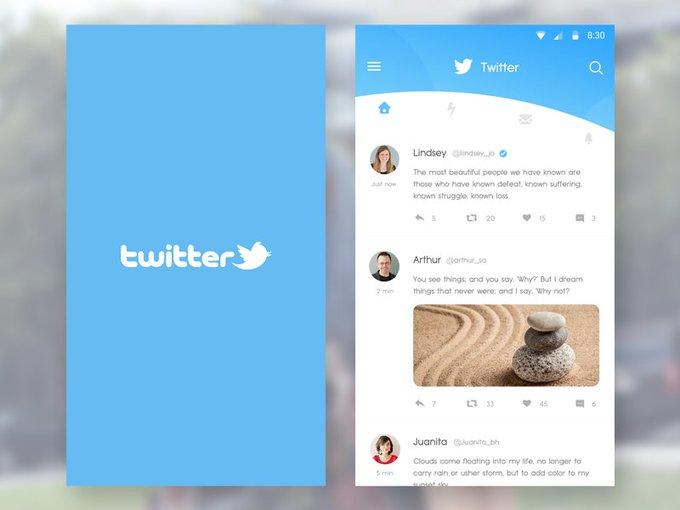 Twitter timeline   Template by Sufyan Hassan freebie
