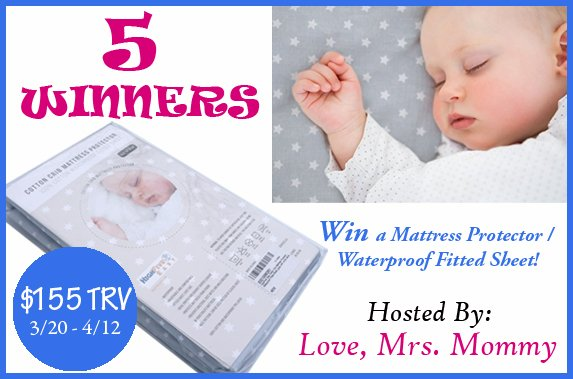 5 Winners! HighFive Easy Mattress Protector / Waterproof Fitted Sheet Giveaway! $155 TRV!