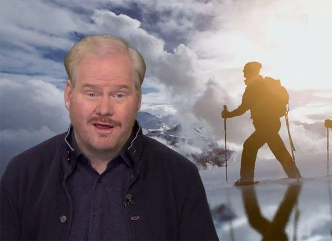 """Jim Gaffigan on winter: """"Like death, taxes and kale, it may never go away"""""""