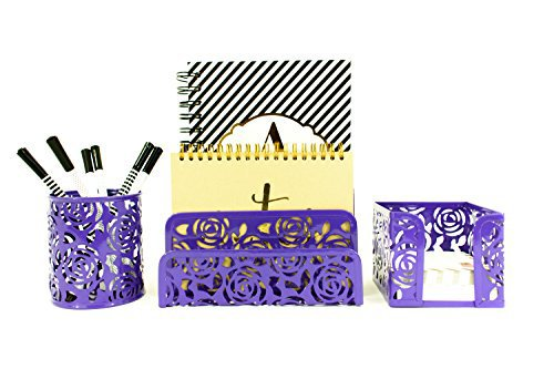#free #iphone #win #style #digital #usb #giveaway #np Carved Floral Pattern Office Supplies Desk Organizer