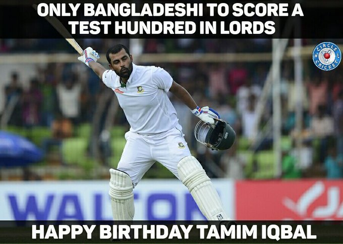 Many happy returns of the day to Tamim Iqbal on his 28th birthday