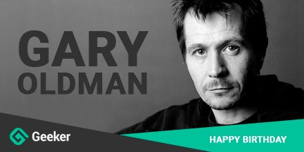 Happy Birthday to the best ever! We love you, Gary Oldman!