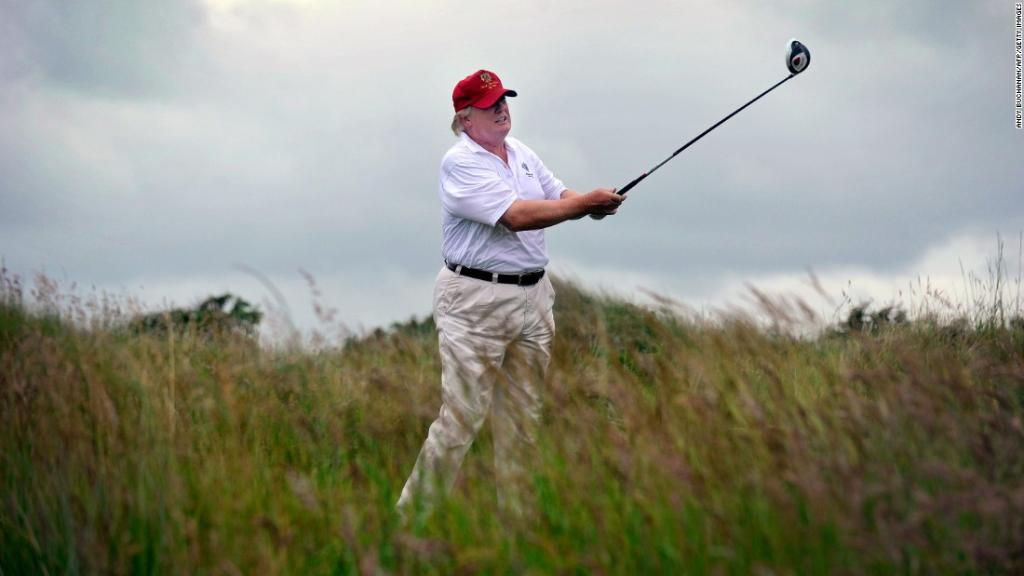 President Trump, once a critic of President Obama's golfing, now regularly hits the links https://t.co/q6ROVz3csl https://t.co/zyBTZ87viE
