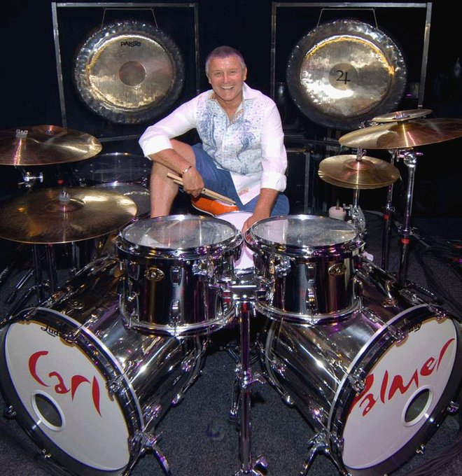 Happy birthday to top tub thumper Carl Palmer. Now the only surviving member of ELP.