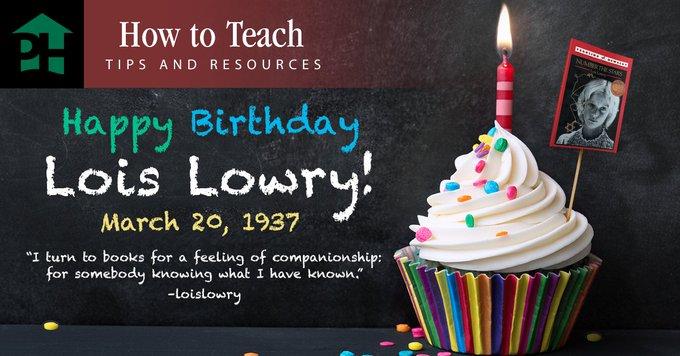 Happy birthday to Lois Lowry!