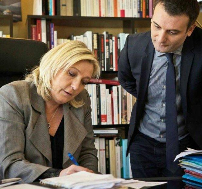 Y'a Marine Le Pen qui révise pour le #DebatTF1 de ce soir là... https://t.co/bfuR5nGFjZ