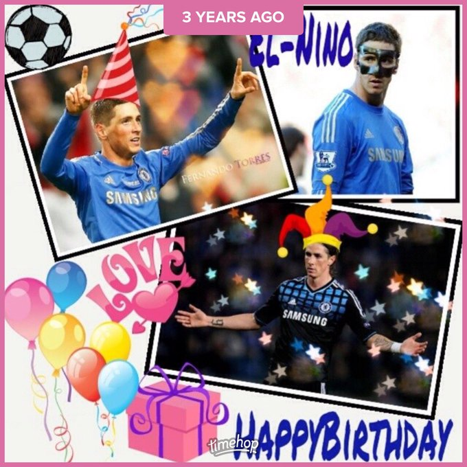 I never bored to say happy birthday to you Fernando year after year. Proud fans of Chelsea