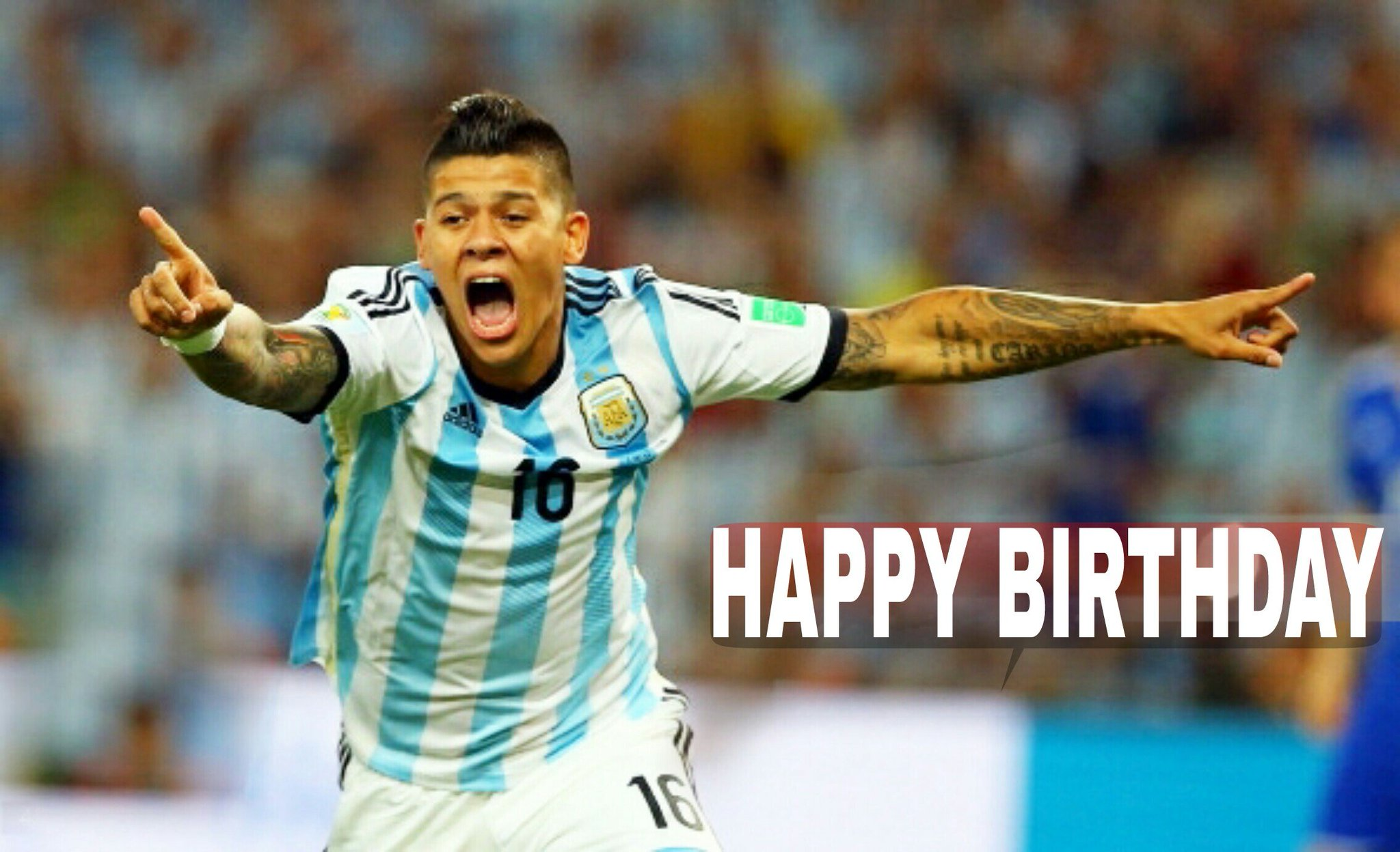 Happy birthday to  left back Marcos Rojo, He turns 27 today.