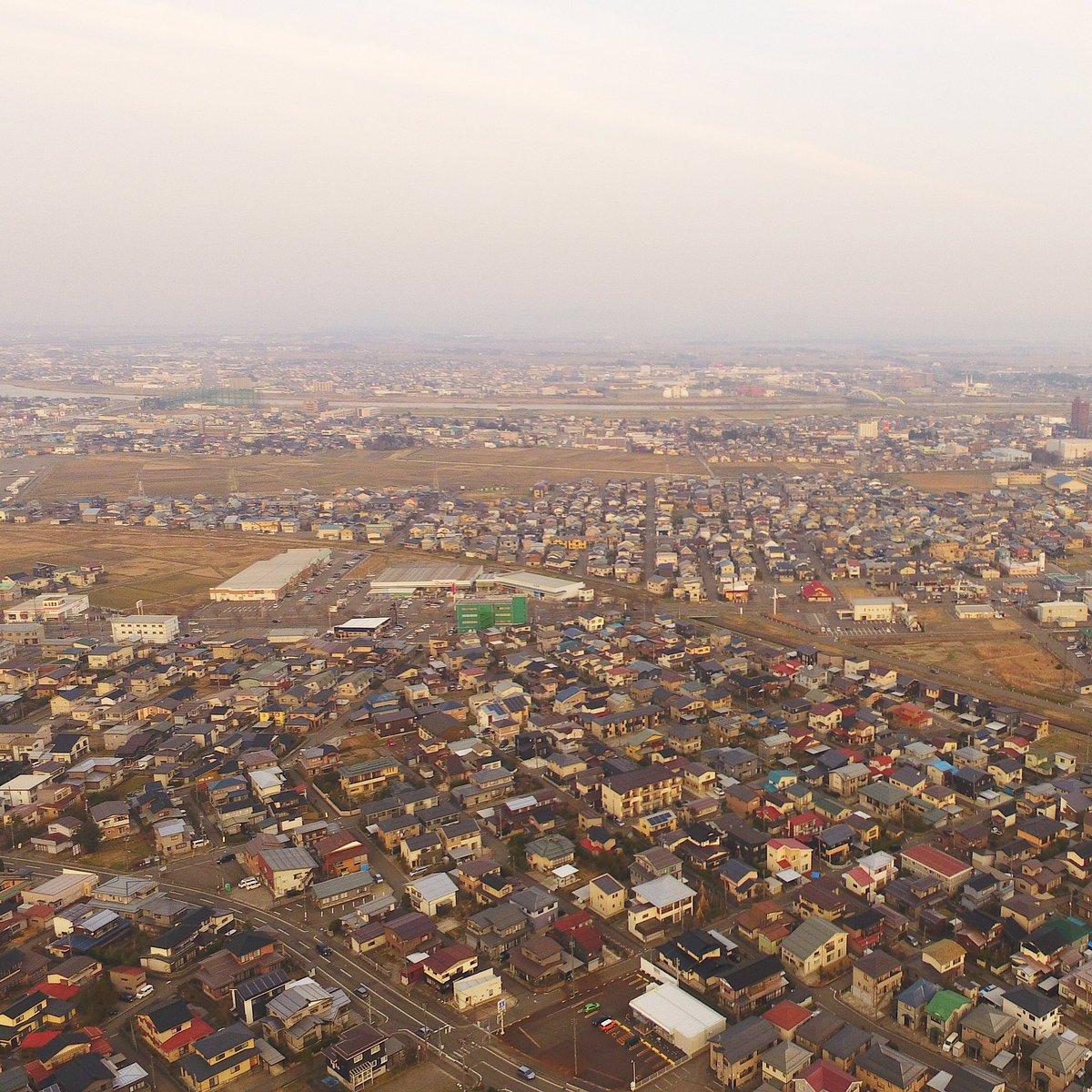 春日山城跡 史跡広場上空150mより上越市を望む#空撮 #Phantom4 #Phantom #春日山城 #drone