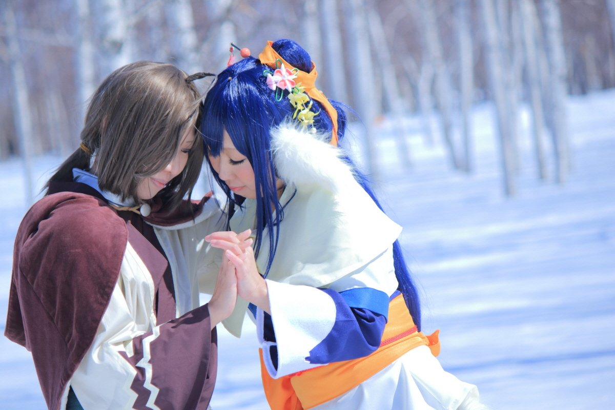 【うたわれるもの/アクアプラス】北海道ならではの白樺背景!そして、青空!たまらんです!ハク:沙奈さん(   )クオン:な