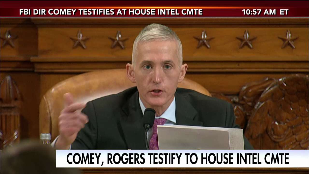 .@TGowdySC questions Dir. James Comey during House Intel Committee. Tune in to Fox News Channel for LIVE coverage. https://t.co/A9C5a9muHt