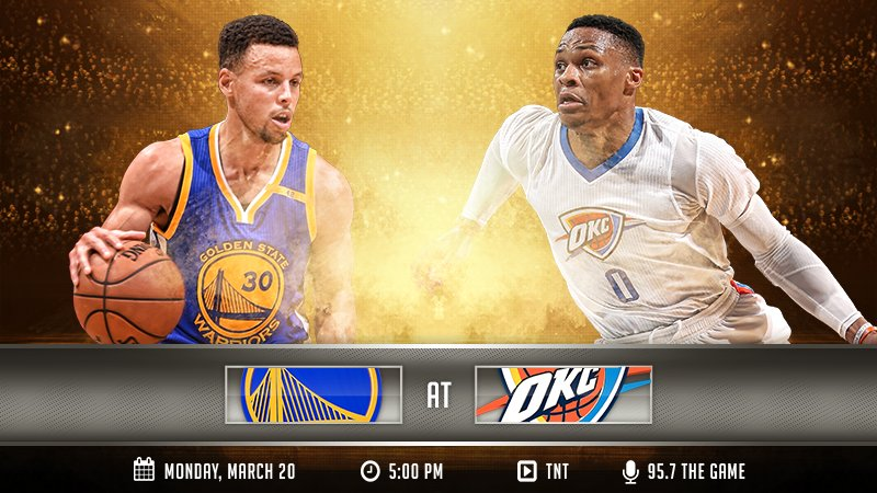 IT'S GAME DAY! The Dubs visit the Thunder in OKC » https://t.co/Qynj63bvHF https://t.co/zeYsvCdcsf