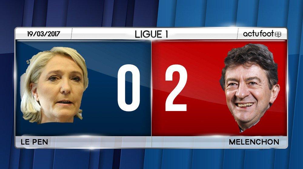 ⚽️ BUUUUUUUUUUTTT DE MELENCHON !!! #LeGrandDébat #DebatTF1  Le Pen  0️⃣-2️⃣  Melenchon https://t.co/Grkyz7xNs8